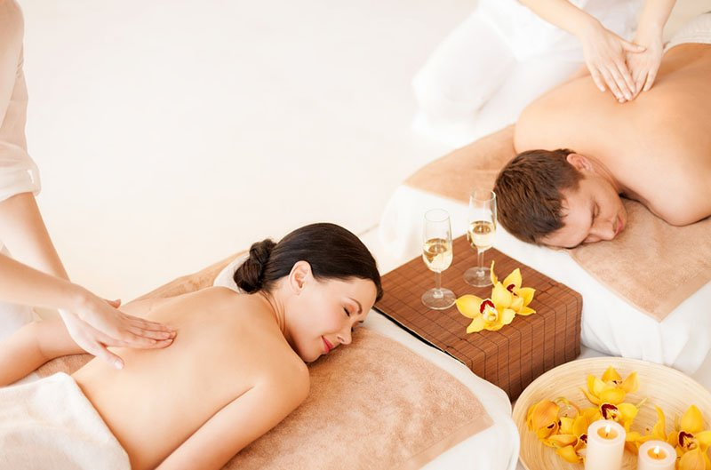 Image result for romantic couples massage
