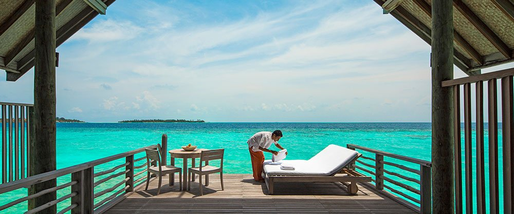 Encircled with powder white sand, the carefree, understated luxury experience at Cocoa Island by COMO includes holistic wellness treatments, South Indian-influenced cuisine and worldclass diving.