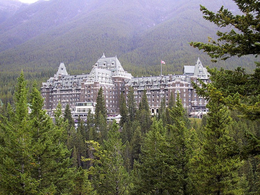 The Banff Springs Hotel is a dramatic destination that many believe is haunted.