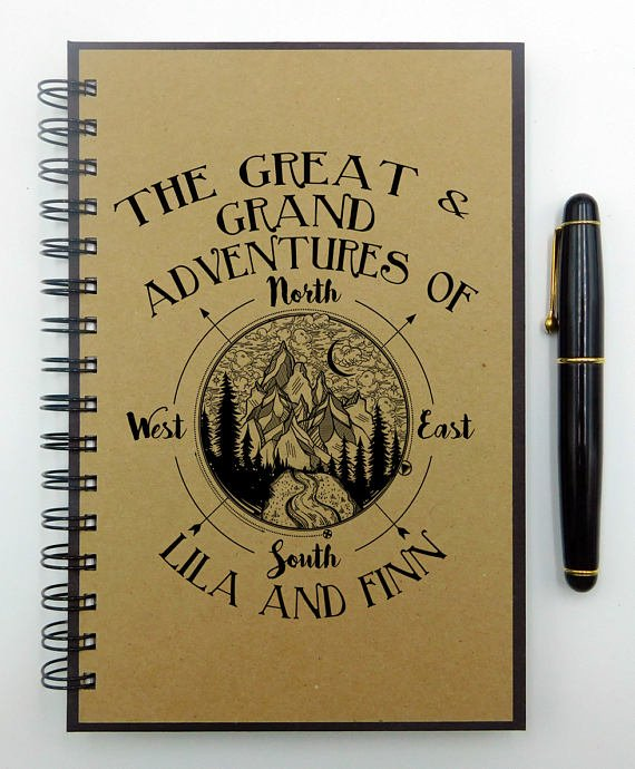 This personalized travel journal offers 160 pages to fill with memories and observations of your next grand getaway.