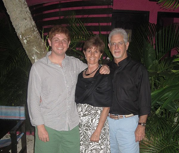 With my family on a dive trip in Cozumel in 2013