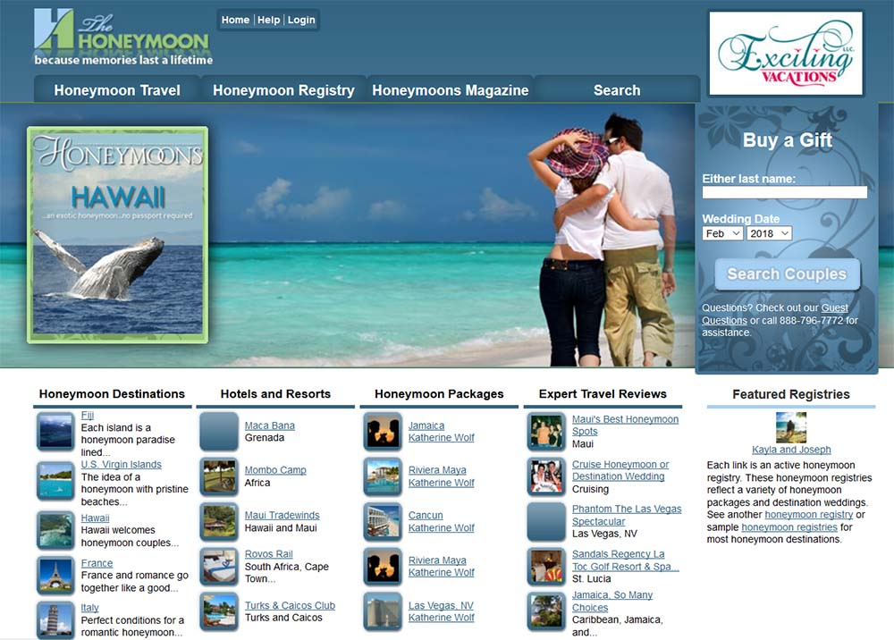 I'll create your honeymoon fund registry at TheHoneymoon.com so that you can share the link with your guests.