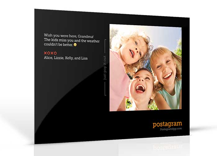 Postagram prints and mails your postcards to your recipients.