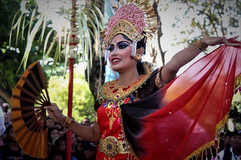 A cultural show in Bali