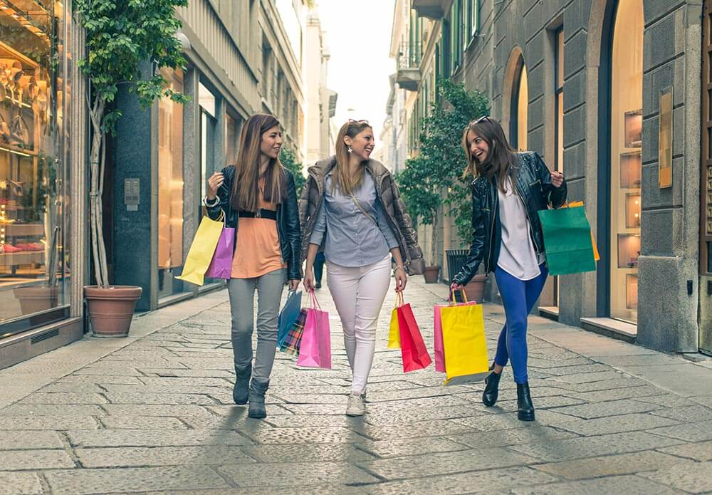 Spend a week shopping with your girlfriends in chic Milan