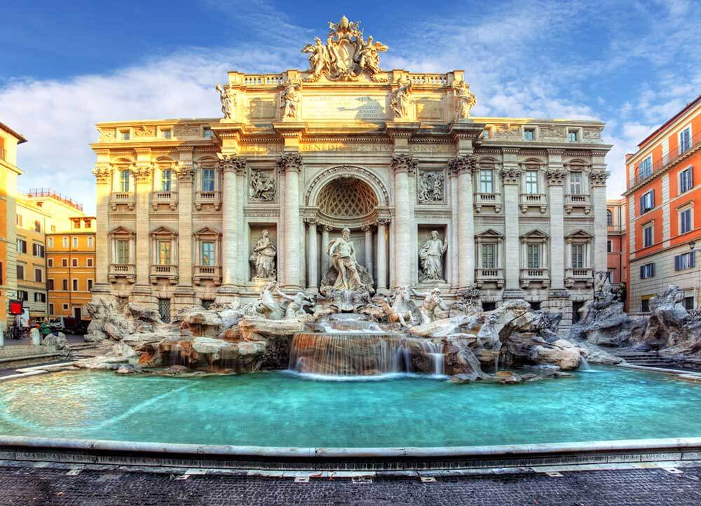 Toss a coin in Trevi Fountain to ensure a return visit to Rome!