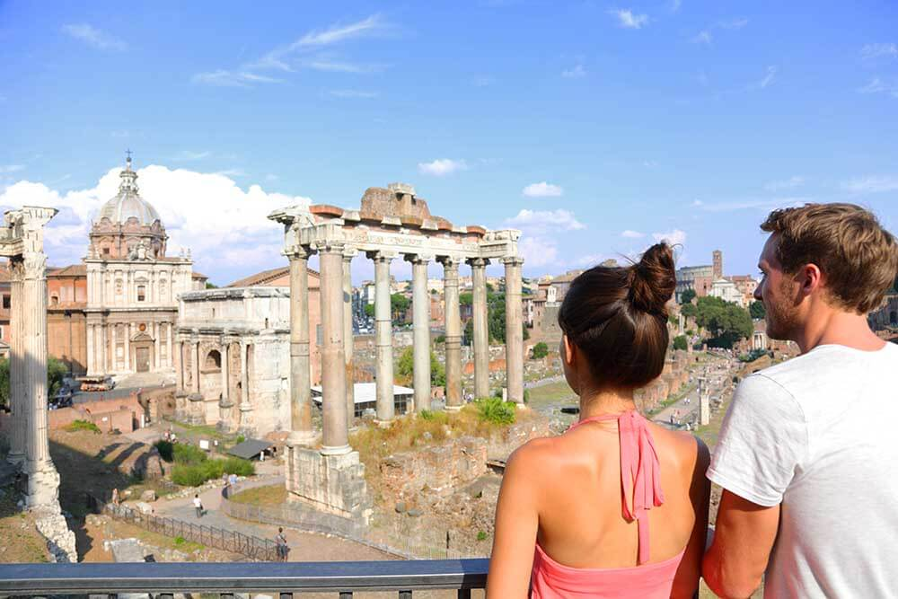 Take a few minutes to admire the Roman Forum on your walk to the Pantheon.