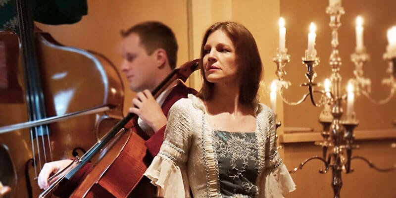 Opera singer Kathi Gudmundsson plays the part of Figaro's fiancée, Susanna. Photo credit: Mozart-Dinner-Concert-Salzburg.com