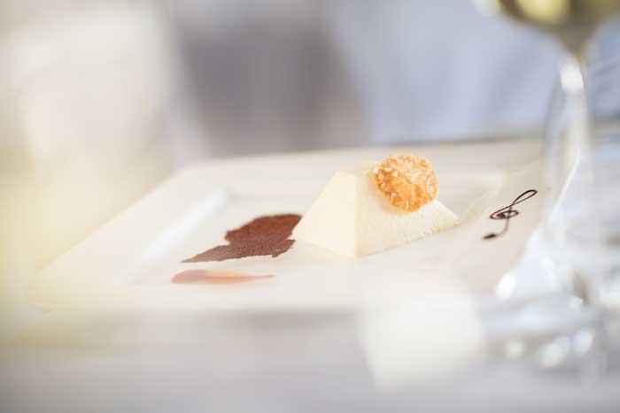 An exquisite parfait to end our meal. Photo credit: Mozart-Dinner-Concert-Salzburg.com