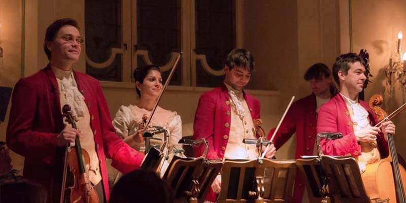 All of the Mozart Dinner Concert musicians are graduates of the world famous University Mozarteum Salzburg. Photo credit: Mozart-Dinner-Concert-Salzburg.com