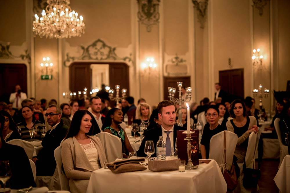 Enjoying the Mozart Dinner Concert in Salzburg, Austria