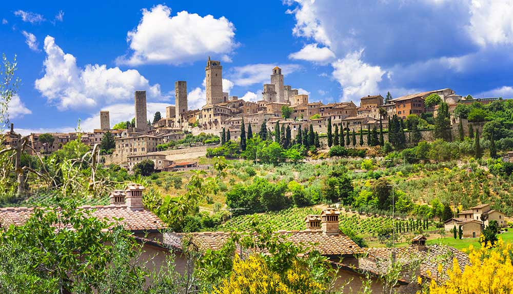 The medieval towers of San Gimignano